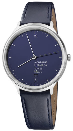 Helvetica Light Navy Blue, 38 mm, miesten rannekello. Upea sininen kellotaulu!