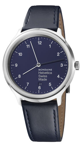 Helvetica Regular 40 mm, Navy blue
